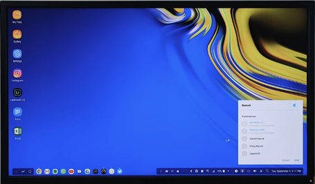 Samsung Dex screen preview