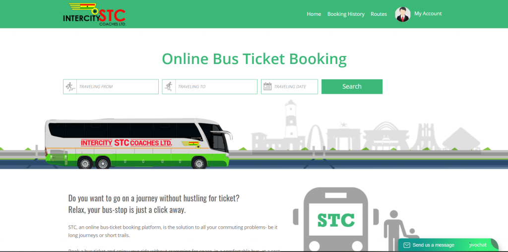 Intercity STC web Ticket portal