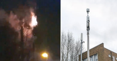 Burned UK 5G Masts