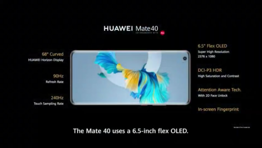 Huawei Mate 40 Display Specs