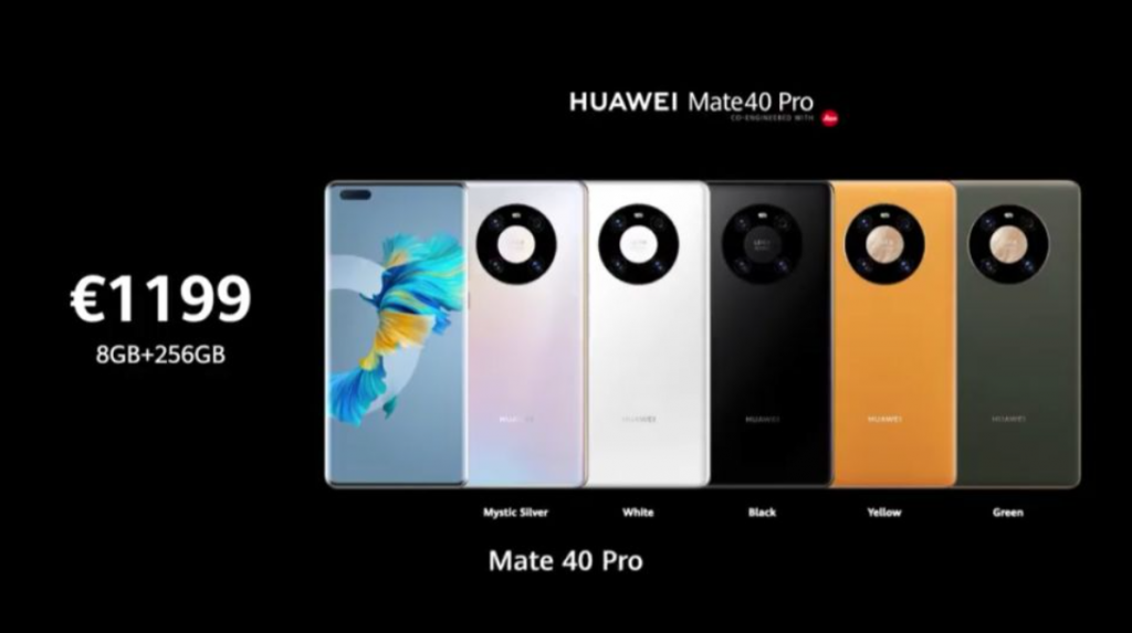 Huawei Mate 40 Pro and Pro + Price